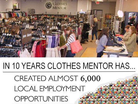 Clothes Mentor Franchise Created 6,000 jobs