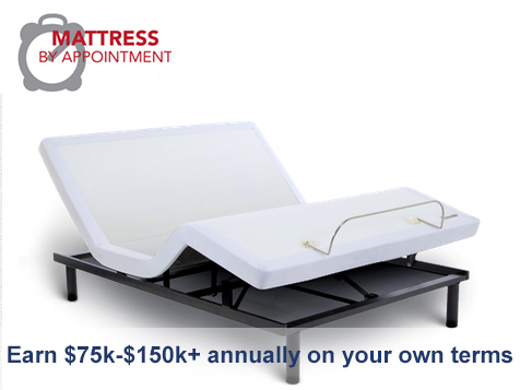 Earn $75k-$150k annually as a Mattress By Appointment dealer