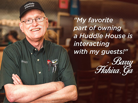 Huddle House Franchisee, Barry Robinson