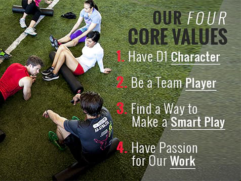 The D1 Sports Training Franchise Operates Based on These Core Values