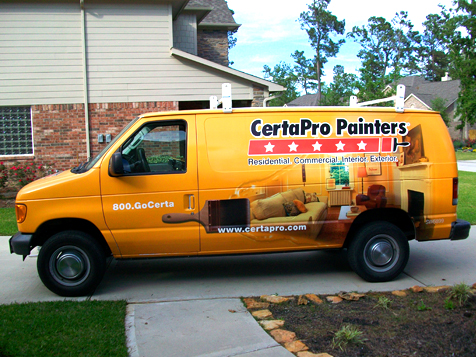 CertaPro Painters Franchise Vehicle