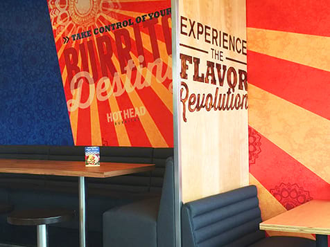 Inside a Hot Head Burritos Franchise