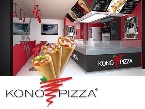 Introduce the 3D pizza with a Kono Pizza franchise