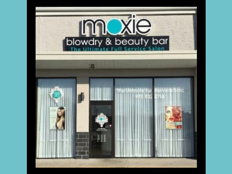 Outside a Moxie Blowdry & Beauty Bar Franchise