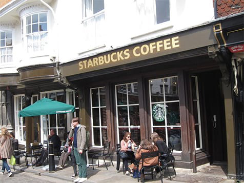 Starbucks Coffee Shop Exterior