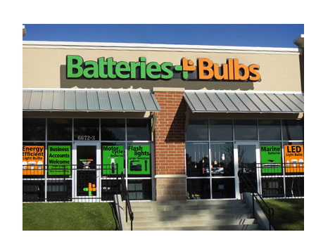 Outside a Batteries Plus Bulbs Franchise