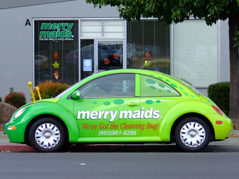 Merry Maids Franchise Car